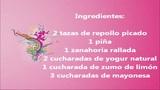 cocina vegetariana: ensalada de repollo y piña