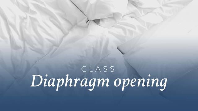 Diaphragm opening