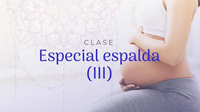 Clase 8: Especial espalda III